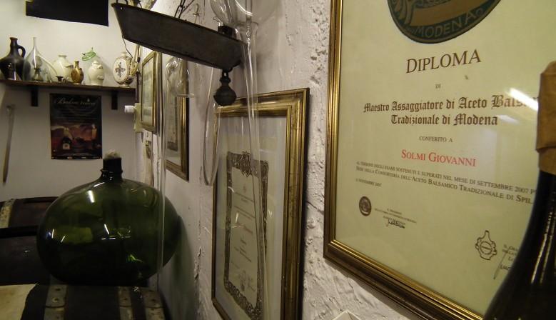 Diploma Maestro Assaggiatore Aceto Balsamico Tradizionale Modena